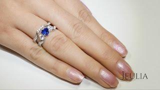 Jeulia 925 Sterling Silver Full Of Love Sea Blue Heart Women