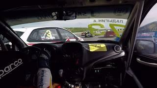 Столкновение в первом повороте первого заезда, класс Национальный РСКГ 2017.