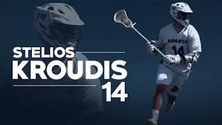 Stelios Kroudis 2018 Senior Lacrosse Highlights | Villanova University 2022