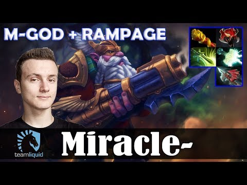 Miracle - Sniper MID | M-GOD + RAMPAGE | Dota 2 Pro MMR  Gameplay
