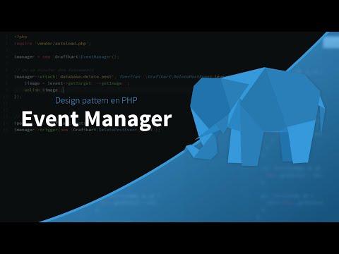 La POO en PHP (30/30) : Event Manager