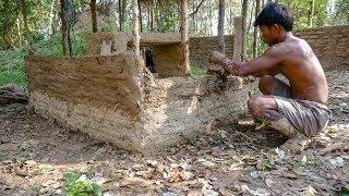 Primitive Technology, Mud huts, Upgrade wall of Mud huts  - ep 7