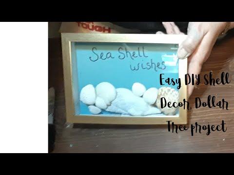 DIY Sea Shell wall art, EASY