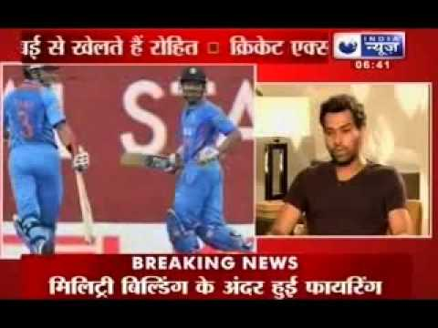Cricketer Rohit Sharma Exclusive Interview to Sports editor Rajeev Mishra