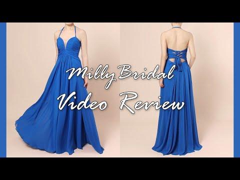 evening-dresses-|-long-halter-chiffon-open-back-blue-formal-prom-dress---millybridal-video-review