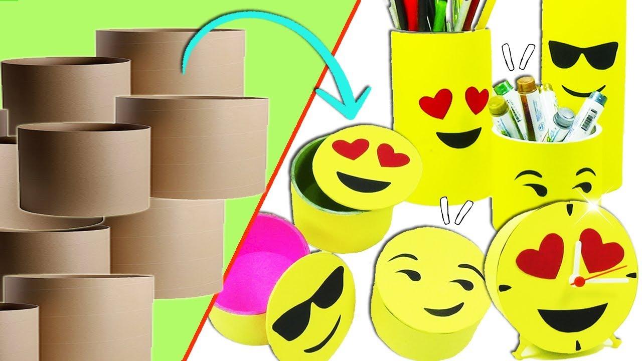 Ideas emojis con tubos de cart n reciclaje ecobrisa - Decoracion con reciclaje ...
