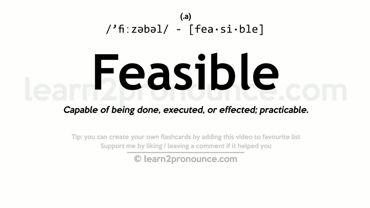 Wonderful Feasible Pronunciation And Definition