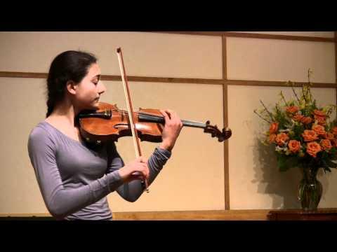Olivia's April 2011 violin recital: Chaconne in g minor by Vitali