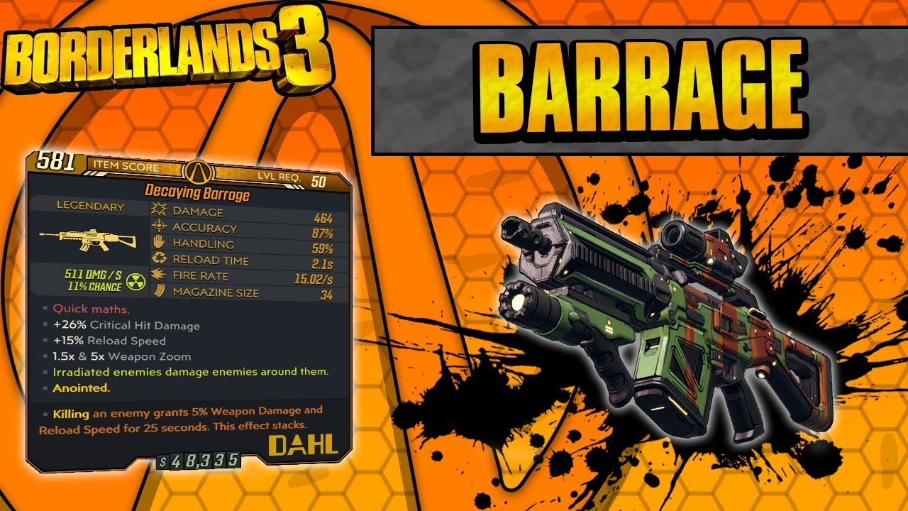 Borderlands 3 | Barrage Legendary Weapon Guide (Fast Bursts!) thumbnail