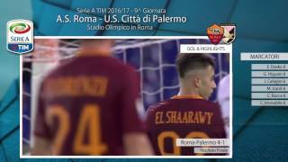 Roma-Palermo 4-1 // Higlights & Gol  // 9^ Giornata Serie A TIM 2016/17 // 23-10-2016