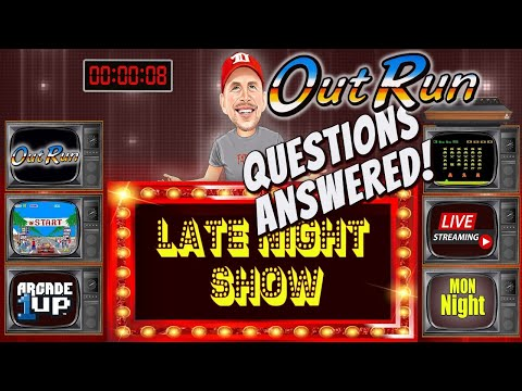 ARCADE 1UP OUTRUN!! LATE Night Rexershow! Questions Answered w/ 'Kongs R Us' from therexershow