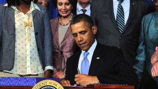 President Barack Obama Signs Violence Against Women Act
