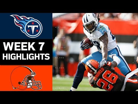 Titans vs. Browns | NFL Week 7 Game Highlights