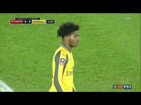 Ainsley Maitland-Niles vs Southampton F.C. | 28/1/2017