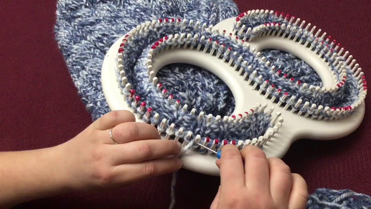 How To Loom Knit A Blanket Or Afghan In A Cable Knit