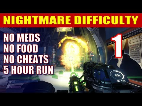 Prey Walkthrough NIGHTMARE DIFFICULTY - Banzai Survival Run (NO MEDS, NO FOOD) - Part 1 thumbnail