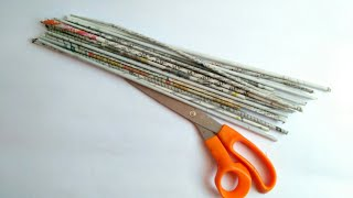 Newspaper craft | best out of waste craft idea | recycle newspaper | HMA##314