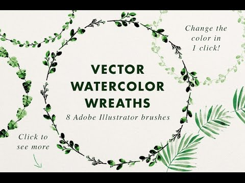 water color brushes illustrator