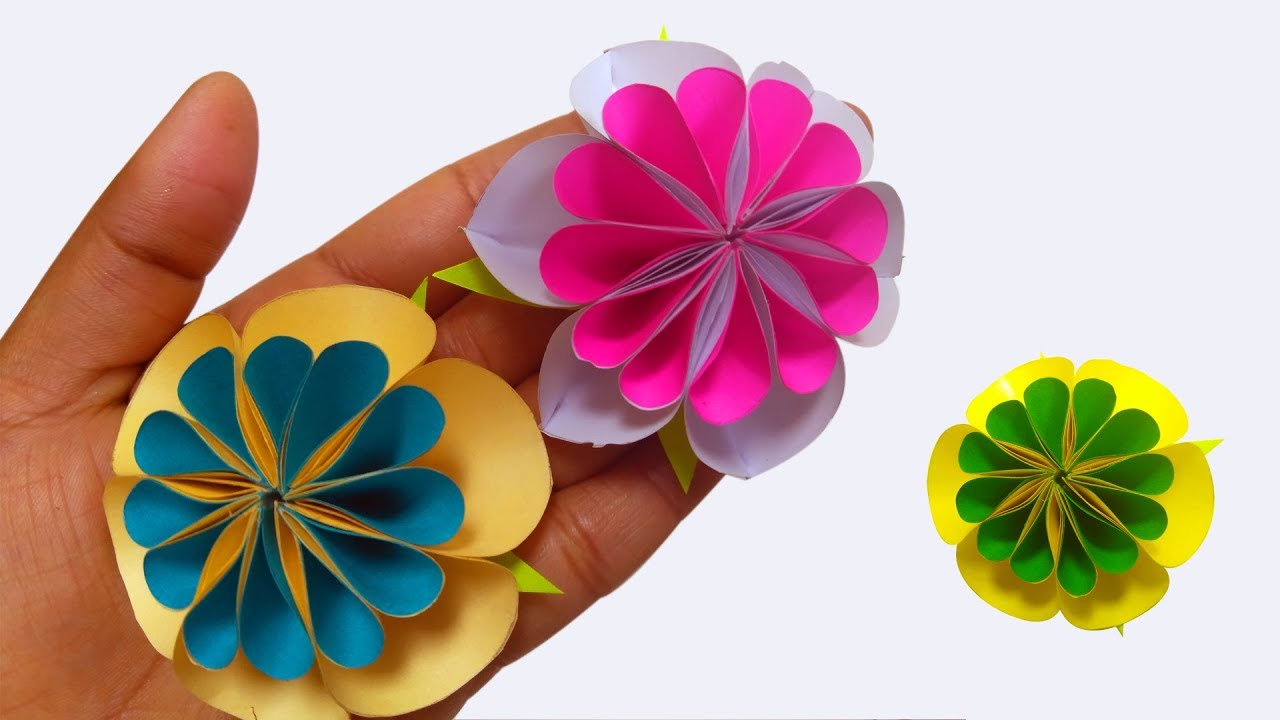 How To Make Paper Flowers Easy Paper Flowers Diy Flowers Making
