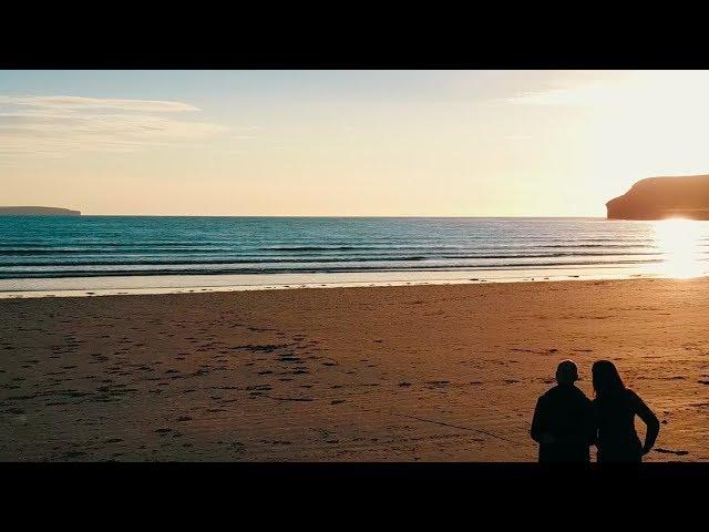 Beach Sunset Scotland- Family travels UK in a motorhome - DJI MAVIC Drone- Wandering Bird
