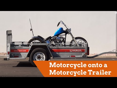 How to Load a Motorcycle onto a Motorcycle Trailer