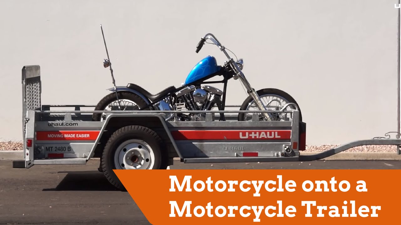 how to load a motorcycle onto a motorcycle trailer [ 1280 x 720 Pixel ]