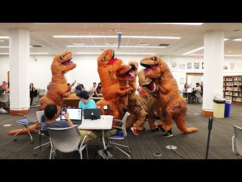 T-REX Let Loose in the Library PRANK 2