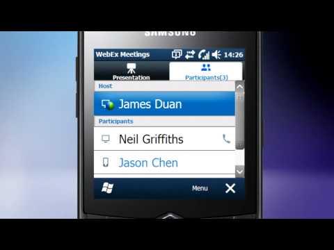 WebEx on Samsung Omnia 735