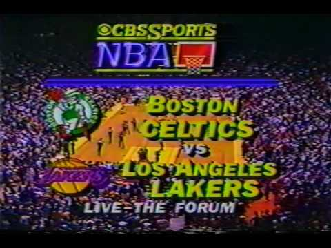 Tommy Heinsohn and Dick Stockton Celtics Lakers NBA Pre Game pt2