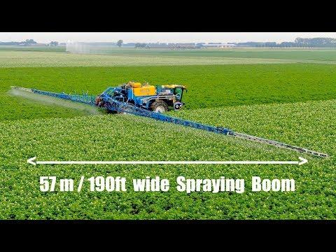 Spraying Tulips And Potatoes | 57m/190ft Wide Spraying Boom | Delvano Euro-Trac | Franzen Landbouw