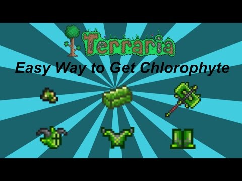 Terraria ios 1.2 | Easy Way to get Chlorophyte Bars