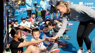 Большой теннис для детей - мастер класс Мария Шарапова | TennisVIP