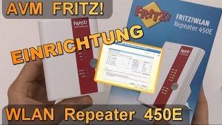 Einrichtung & Konfiguration: AVM FRITZ! WLAN Repeater 450E / WiFi Verstärker 2,4GHz 802.11n
