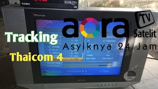 Tracking thaicom4 Ku band,dengan receiver matrix burger S2,transpondernya aora tv