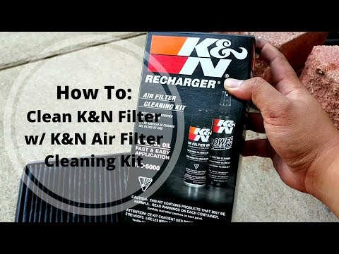How To Clean and Restore K&N Filter with Recharge Kit