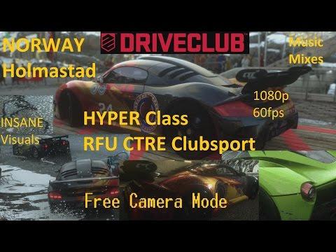 DRIVECLUB NORWAY Holmastad: HYPER RFU CTRE Clubsport - Music & Free Camera Mode 1080p 60fps