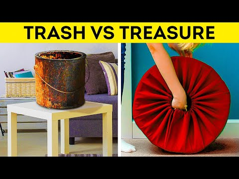TRASH VS TREASURE    Recycling, Reusing, Rethinking Everything Around You Into Useful Things
