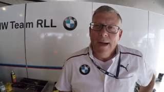Clay Filson on the Rahal Letterman BMW IMSA Team