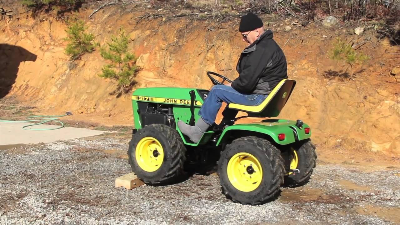 John Deere Garden Tractors 4x4 : John deere wd garden tractor ftempo