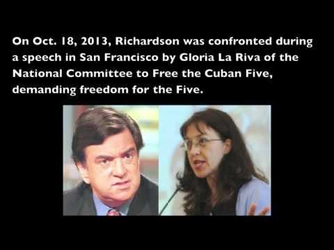 Gloria La Riva confronts Bill Richardson about the Cuban Five