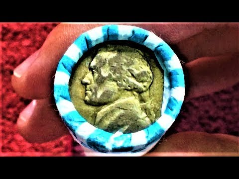 WE FOUND A SILVER NICKEL ON THE END OF THE ROLL!! COIN ROLL HUNTING NICKELS COMPETITION HUNT