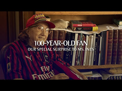 Our surprise to 100-year-old Rossoneri fan, Ms Ines