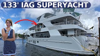 "$13,500,000 2016 133' IAG ""SERENITY"" SuperYacht Walkthrough & Specs / Luxury Charter Yacht Tour"