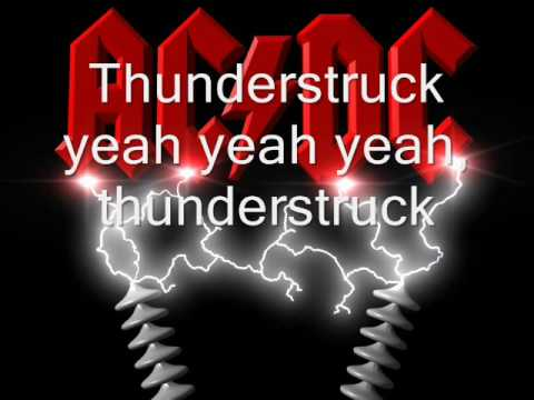 ACDC Thunderstruck with lyrics+download link