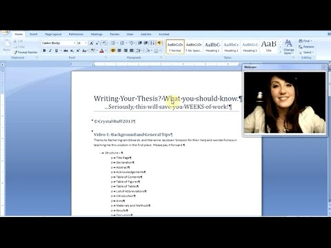 How to write your dissertation video