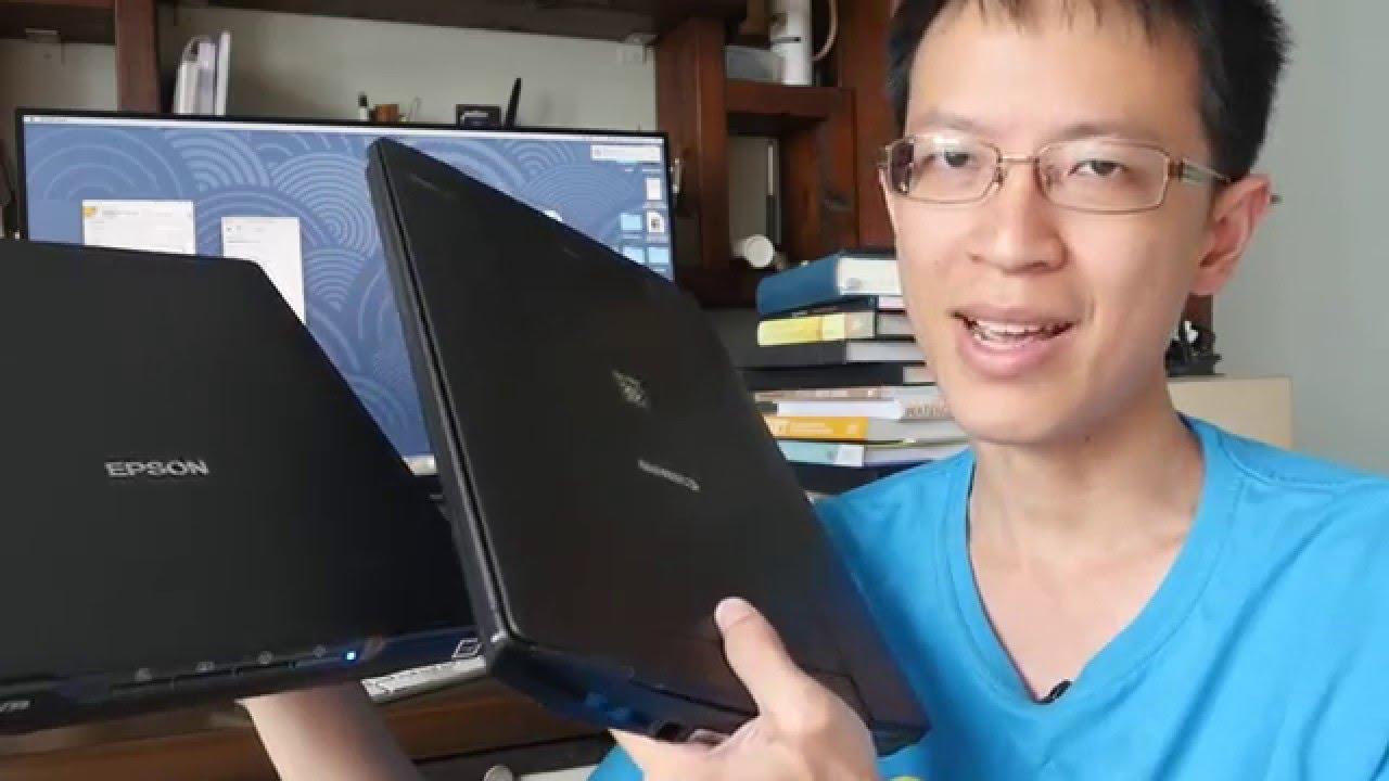 Artist Review: Epson v39 scanner