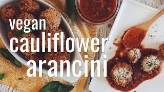 VEGAN CAULIFLOWER ARANCINI | hot for food
