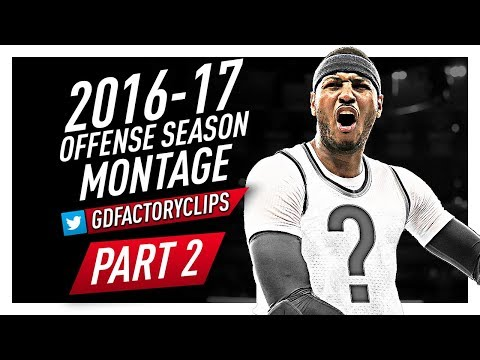 Carmelo Anthony Offense Highlights Montage 2016/2017 (Part 2) - Last Season For Knicks?