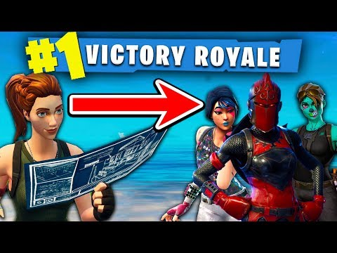 FUNNIEST SQUAD IN FORTNITE PRETENDS TO BE NOOBS UNTIL....