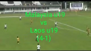 Full Highlight Malaysia u19 vs Laos u19 (4-1)